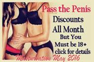 Play Pass the Penis to celebrate Masturbation May 2016.